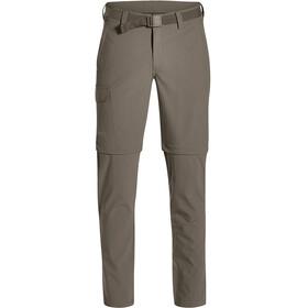 Maier Sports Torid Slim Pantalon convertible avec fermeture éclair Homme, teak